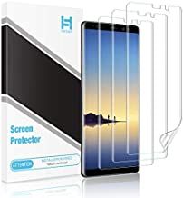 [3 Pack] HATOSHI Screen Protector for Samsung Galaxy Note 8 [Flexible TPU Film], [Case Friendly] [Full Coverage] HD Clear Protectorfor Samsung Galaxy Note 8