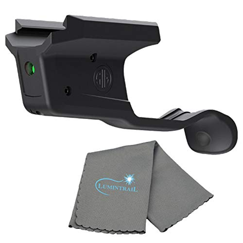 LIMA365 Laser Sight, P365, Compact, Green, Black, with a Lumintrail Microfiber Cleaning Cloth