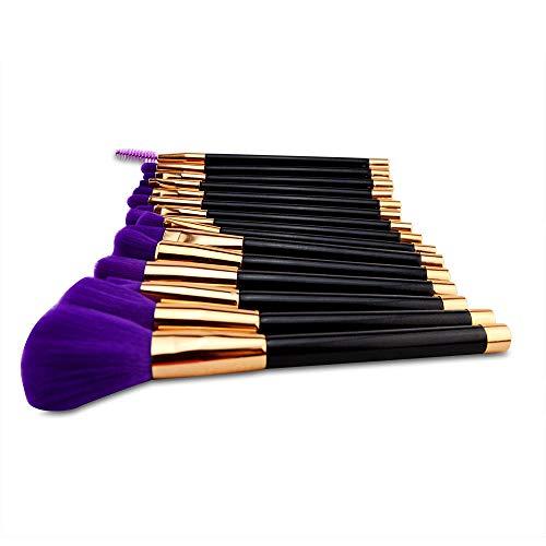 MPKHNM Fifteen Beauty Tools Makeup Brush Set Brush 15 Makeup Brush Purple