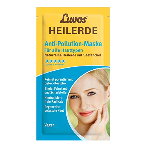 Luvos Heilerde Anti-Pollution Maske, Cremefarben, 2 x 7,5 ml