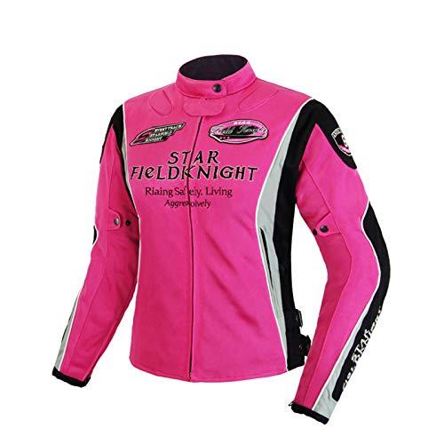 QQA Chaqueta Moto Mujer con Protecciones Reflexivo Ventilación...