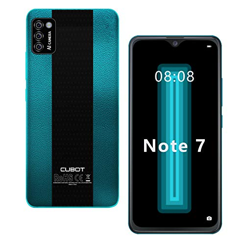 4G Cellulare Android 10 CUBOT NOTE 7 Smartphone 5.5 Pollici FW+ Schermo Waterdrop 3100mAh Tripla Fotocamera 13MP 8MP +0.3MP+0.3 MP16GB ROM Face ID Dual SIM GPS Verde