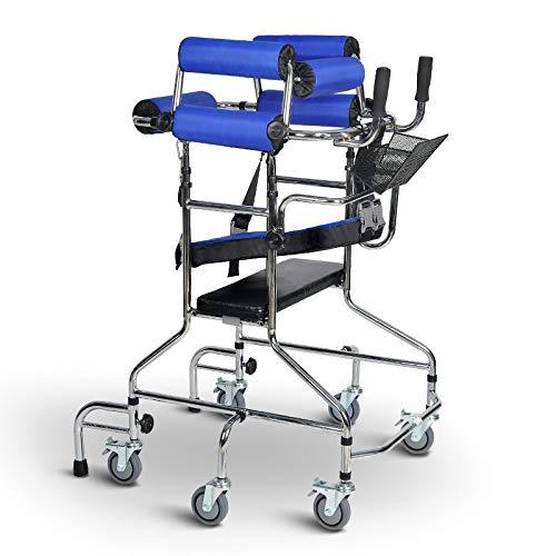 XJZHAN Riemenscheibe Erwachsene Gehhilfe Walker Ältere Gehhilfe Trainingsgeräte Unterstütztes Gehhilfe für die unteren Extremitäten