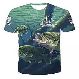 Unisexe Imprimé 3D Été Décontracté Manches Courtes T-Shirts Belle pêche à la Carpe imprimé Hommes T-Shirt Mode à Manches…