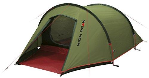 High Peak Leichtgewicht Zelt Kite 2, Campingzelt mit Vorbau, Trekkingzelt für 2 Personen, Tunnelzelt nur 2,8 kg, Dauerventilation, 3000 mm wasserdicht, Wetterschutz Eingang, kleines Packmaß