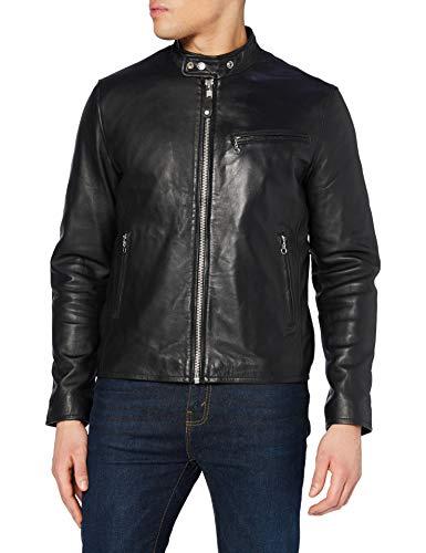 Schott NYC Lc949d Chaqueta, Negro (Black Black), XXX-Large para Hombre