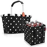 reisenthel Set Carrybag Plus farblich passender bottlebag Einkaufskorb Einkaufstasche (Mixed dots)