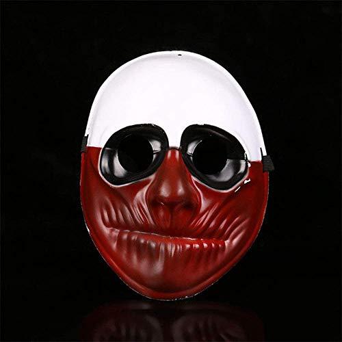 Máscara de Halloween, máscaras de Halloween partido de la mascarada Payasos Scary Carnaval Máscara Payday 2 Horrible divertida del día de pago Suministros Prop WDDT ( Color : Payday Old Man Mask )