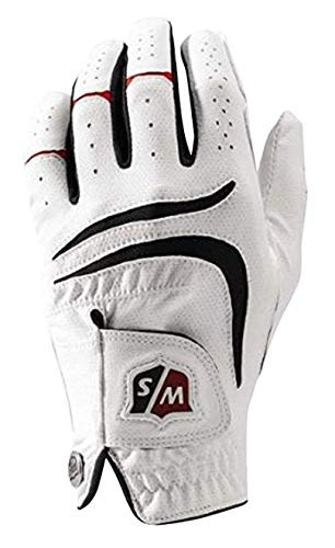 Wilson Staff Men's Grip Plus Golf Glove, Left Hand, White,...