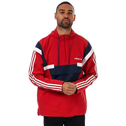 Chaqueta cortavientos adidas Originals BR8 para hombre, color rojo
