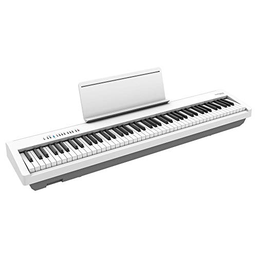 Roland FP-30X Digital Piano with built-in powerful amplifier and stereo speakers. Rich tone and authentic ivory-feel 88-note PHA-4 Keyboard for unrivalled acoustic feel and sound. (White)