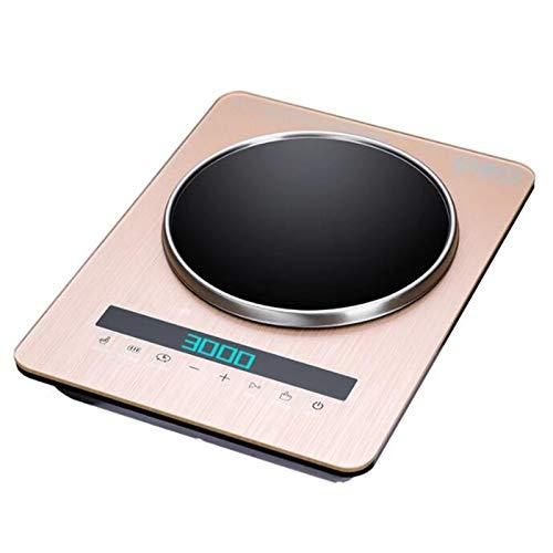 TSTYS Encimera de inducción, Placa de Cocina de encimera de encimera de Cocina de inducción portátil con Sensor LCD Toca 3000 vatios Inteligentes (Color : Yellow)
