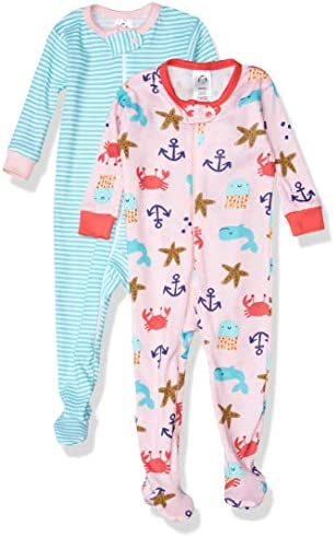 Gerber Baby Girls 2 Pack Footed Pajamas Whale 18 Month product image