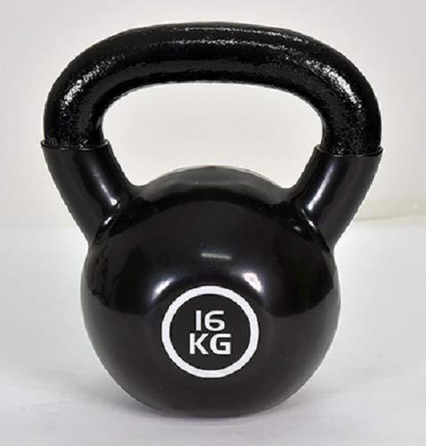 Christopeit Kettlebell Guss 16 kg Sport Kugelhantel Fitness Gewichte Kraftsport