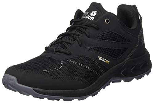 Jack Wolfskin Herren Woodland Vent Low M Cross-Trainer, Schwarz (Black/Grey 6069), 42.5 EU
