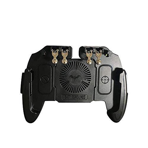 Multifunktions-Handygriff,Gamepad-Kunststoff-Spiel-Joystick-Controller Sechs-Finger-Trigger-Schießen Free Fire Cooling Fan