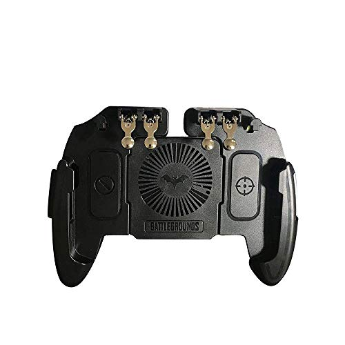 Nevup Mango de teléfono móvil multifunción, Gamepad Controlador de Joystick de Juego de plástico Disparo de Disparador de Seis Dedos Ventilador de enfriamiento de Fuego Libre