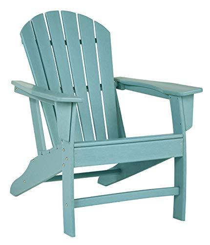 Signature Design by Ashley Sundown Treasure Outdoor Patio HDPE Adirondack Chair, Turquoise Blue