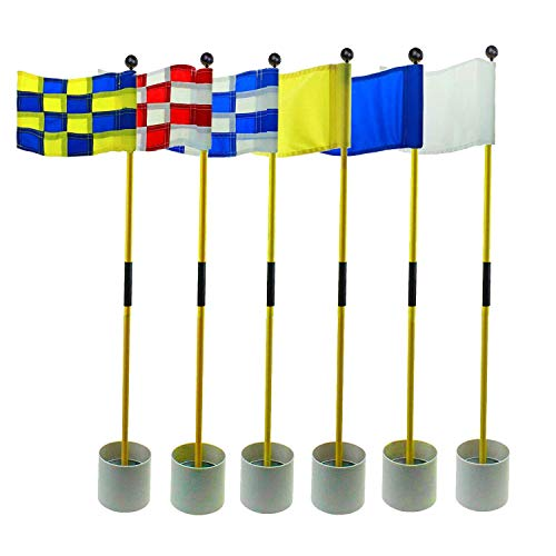 Crestgolf 2-Section Portable Backyard Practice Golf Hole Cup and Flag Stick...