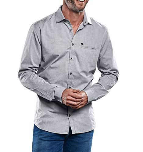 engbers Herren Sakko-Hemd, 30542, Grau in Größe XXL
