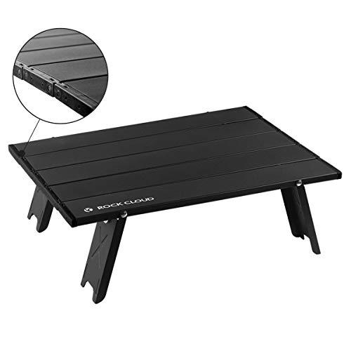Rock Cloud Folding Beach Table Aluminum Portable Camping Table Ultralight Black
