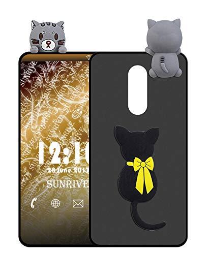 Sunrive Für ZTE Nubia Z11 Max Hülle Silikon, Handyhülle matt Schutzhülle Etui 3D Case Backcover für ZTE Nubia Z11 Max(W1 Katze) MEHRWEG+Gratis Universal Eingabestift