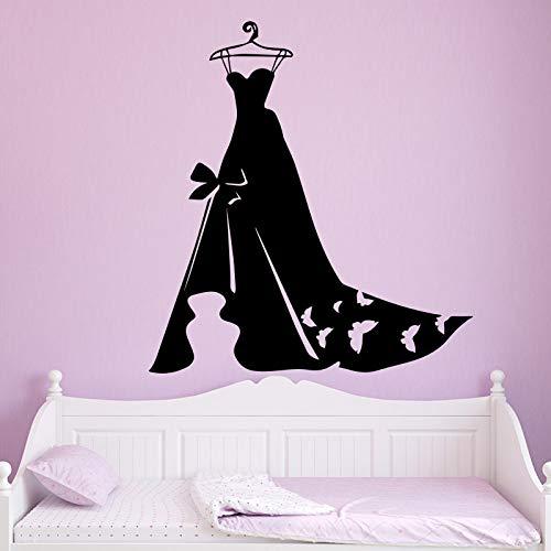 Señoras vestido de noche papel tapiz decoración del hogar pegatinas de pared dormitorio armario Mural pegatinas de pared calcomanías pegatinas de pared A8 58x63cm