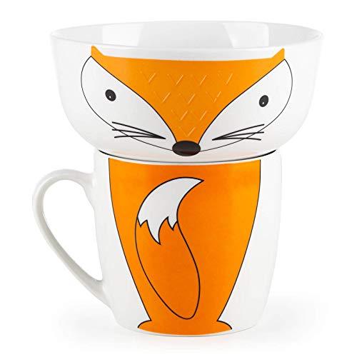 Rosmarino Juego de desayuno de porcelana para niños (zorro)