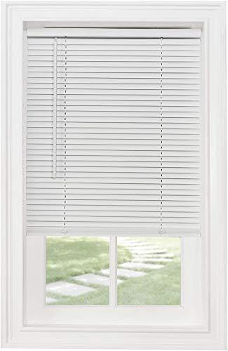 Achim Home Furnishings Cordless Morningstar 1' Light Filtering Mini Blind, Width 24inch, Pearl White