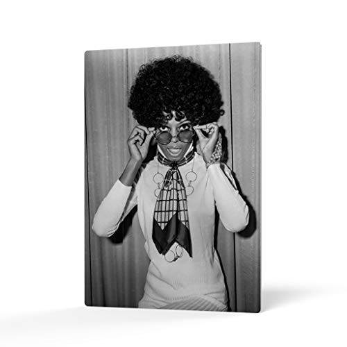 HB Art Design Diana Ross in an Afro in 1968 Black and White Metal Wall Art Print Beautiful African American Art Icon Artwork Living Room Bedroom Decor Metal Wall Decor Home Decor Made in USA 36x24