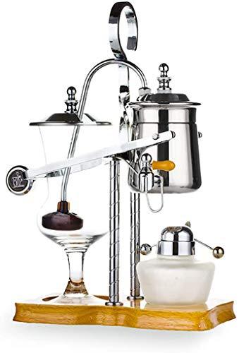 XJIANQI Belgische Königliche Familienbilanz Siphon-Kaffeemaschine, Siphon Kaffeemaschine, Klassisches Und Elegantes Design (5-Tasse) Silver