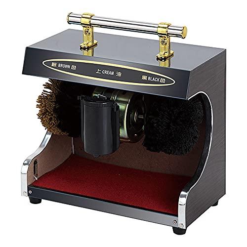 Limpiador de Zapatos eléctrico de 90 vatios - 1400 r / min pulidor de Zapatos por inducción automática, Kit de Cepillo de Limpieza para máquina de Limpieza de Zapatos
