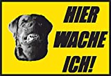 SCHILDER HIMMEL anpassbares Hundeschild Hier wache ich Schild 29x21cm Kunststoff thumbnail