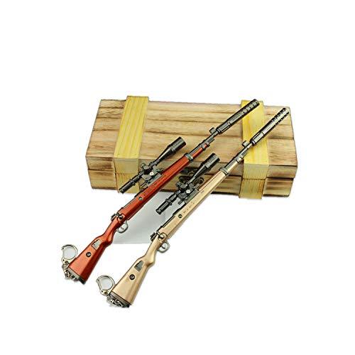 KYJ 98k Sniper Sleutelhanger Jedi Ontsnappen Landing In een Doos Medium Afneembare 98k Sniper Model Sleutelhanger Houten Doos Verpakking