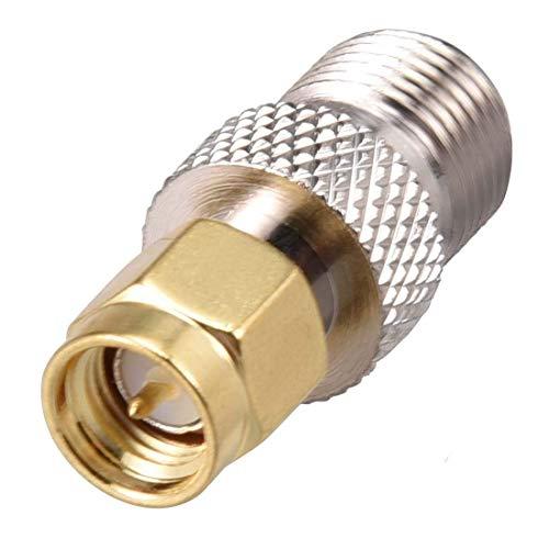 Adaptador de conector RF para cable coaxial SMA macho a F tipo hembra de latón