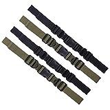 Xinzistar 4 Stück Brustgurt Rucksack Verstellbarer Heavy Strapazierfähiger Sternum Brustgurt mit Schnalle zum Wandern Klettern Joggen (Schwarz & Armeegrün)