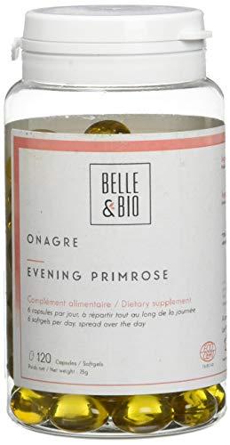 Belle&Bio - Onagre - 120 Capsules - 500 mg/Capsule - Homme & Femme - Fabriqué en France