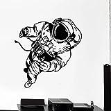 WERWN Spaceman Pared calcomanía Espacio Universo Astronauta Disfraz Ventana Vinilo Pegatina Adolescente niños Dormitorio guardería decoración del hogar Papel Tapiz