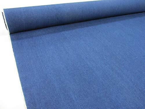 Confección Saymi Metraje 0,50 MTS. Tela Vaquero Tejano Color Azulon, Lavado, 100% algodón con Ancho 1,60 MTS.