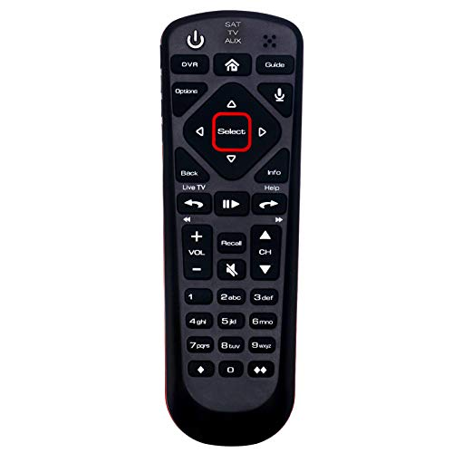 New Network 54.0 Replacement Remote Control Compatible with Dish Hopper Family of DVRs with 3 Modes SAT TV AUX (with Voice Command Functions)