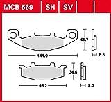 Plaquette de frein TRW Sinter Street haute performance KLE 500 LE500A 91-04 avant
