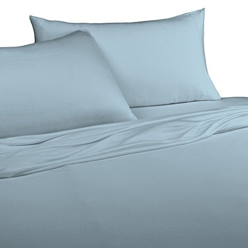 Brielle 100-Percent Modal from Beech Jersey Knitted Sheet Set, Twin, Light Blue