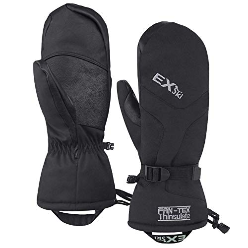 EXski -22℉ (-30℃) Waterproof Winter Gloves Warm 3M Thinsulate Ski Mittens for Cold Weather...