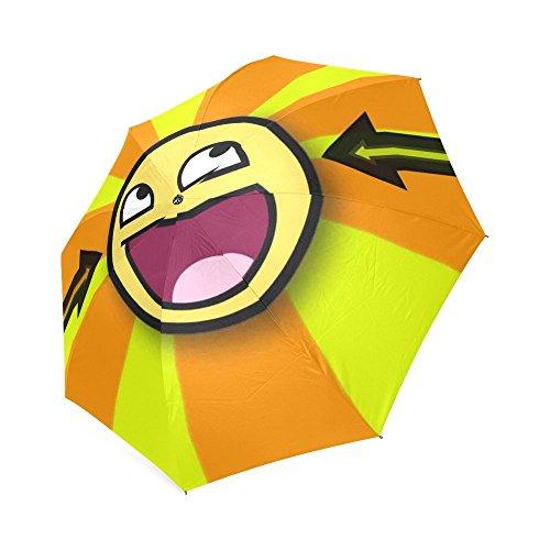 oksty Individuelle Einzigartige Gelb Smiley, Falten Regen Regenschirm/Sonnenschirm/Sonnenschirm