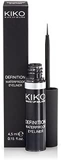 KIKO MILANO - Definition Waterproof Eyeliner - Long Lasting Liquid Eyeliner Black | Water Resistant | Hypoallergenic | Professional Makeup | Made in Italy