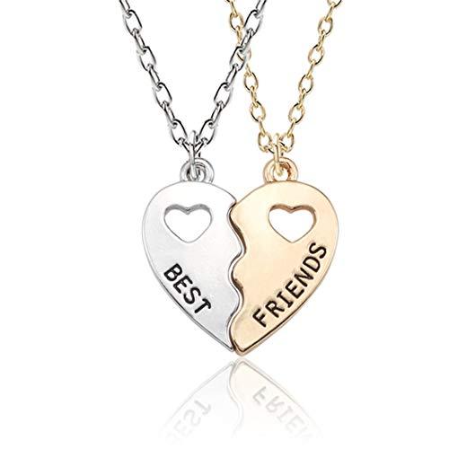 Eleusine Heart Shape Pendant Necklace For Sister or Best Friends