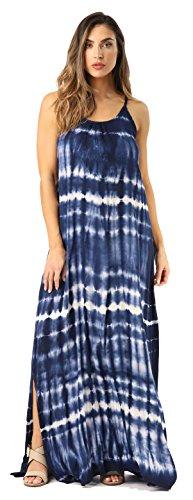 Riviera Sun 21818-NW-S Summer Dresses Maxi Dress Sundresses for Women Navy/White