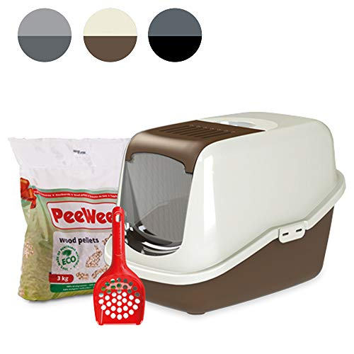PeeWee EcoHus - Katzentoilette - Starter-Paket Braun