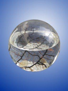 EcoSphere - Mittlere Kugel Durchmesser 13 cm - doppeltes Volumen und doppelte Anzahl Garnelen von SS - nach einer Technologie der NASA