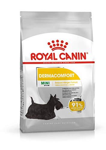 ROYAL CANIN Mini Dermacomfort Pienso para Perros de Razas Pequeñas Prevención Problemas de Piel (Picores, Irritaciones.) - Saco de 1kg 🔥